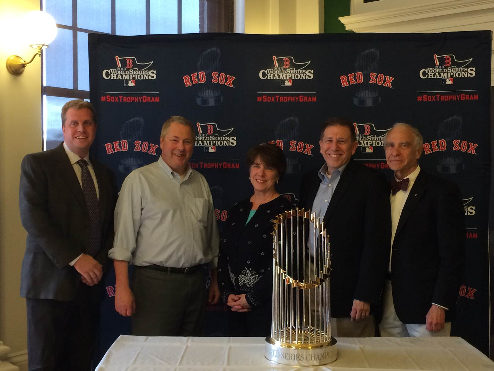Selectmen with Red Sox Trophy