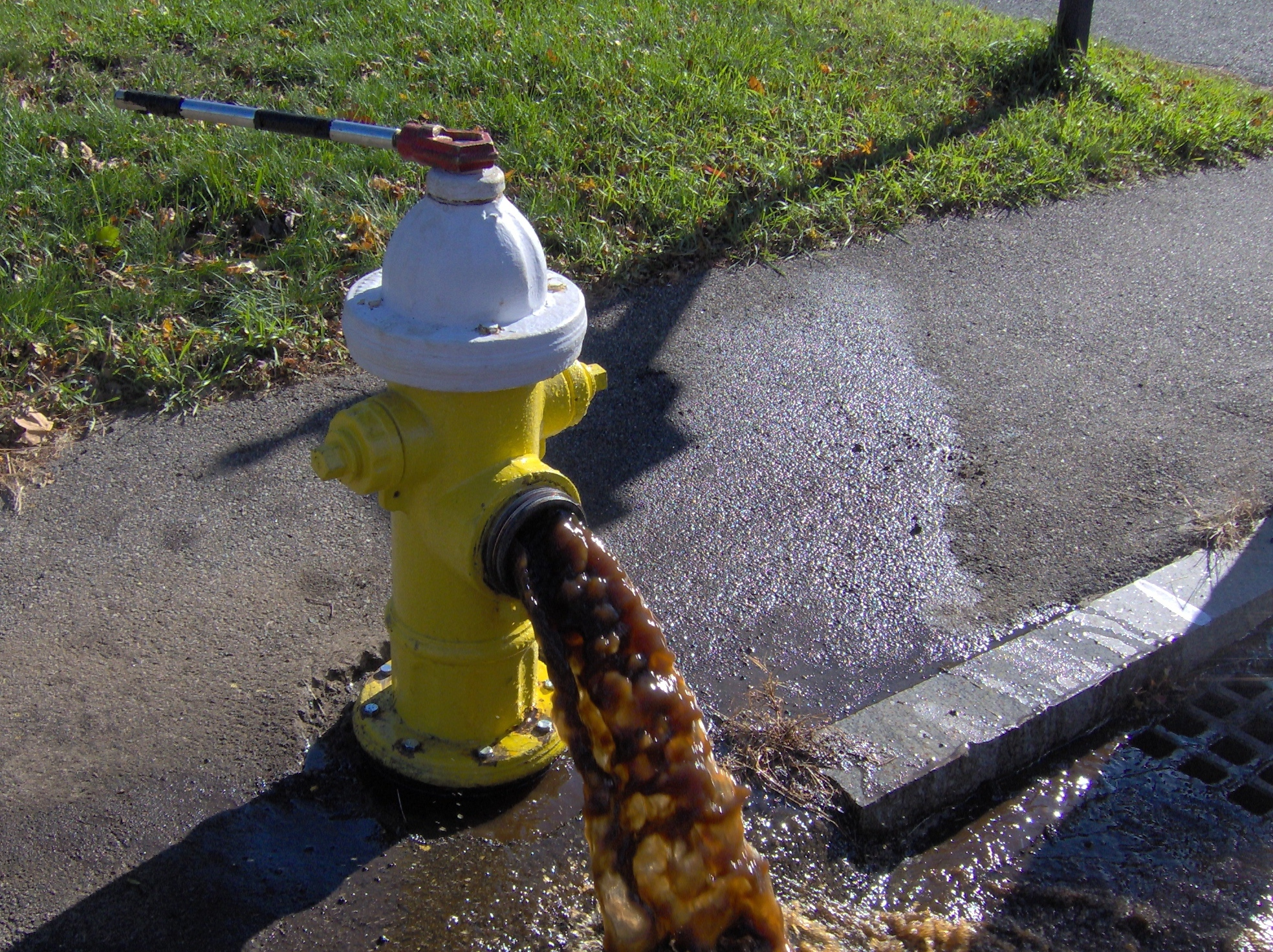 Water main flushing program