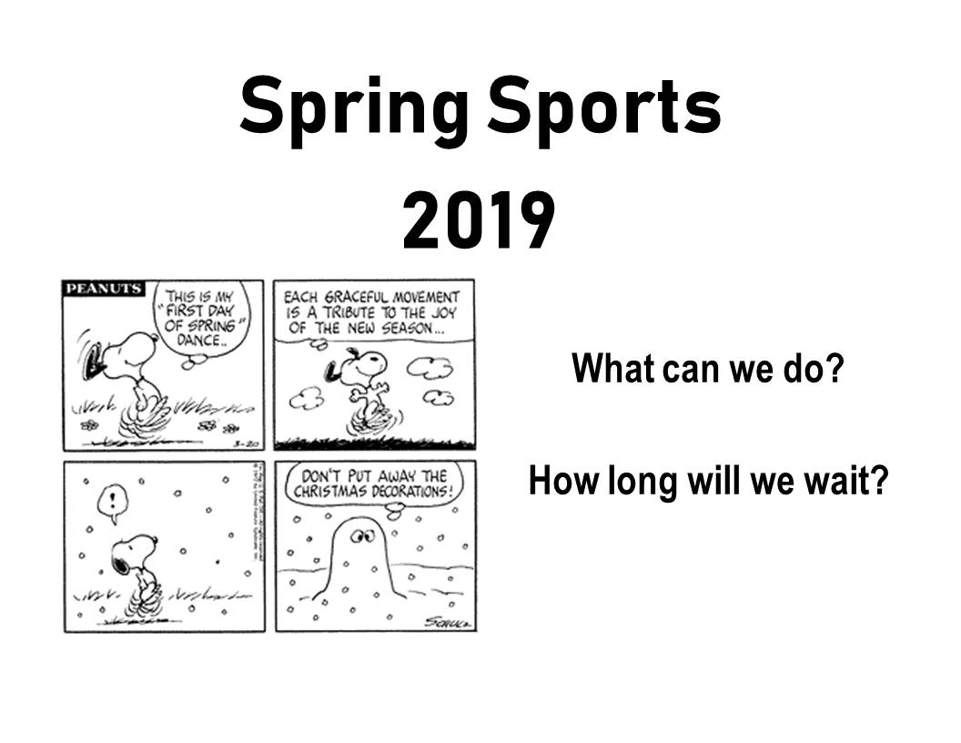 Spring Sports 2019 Informational Packet Cover